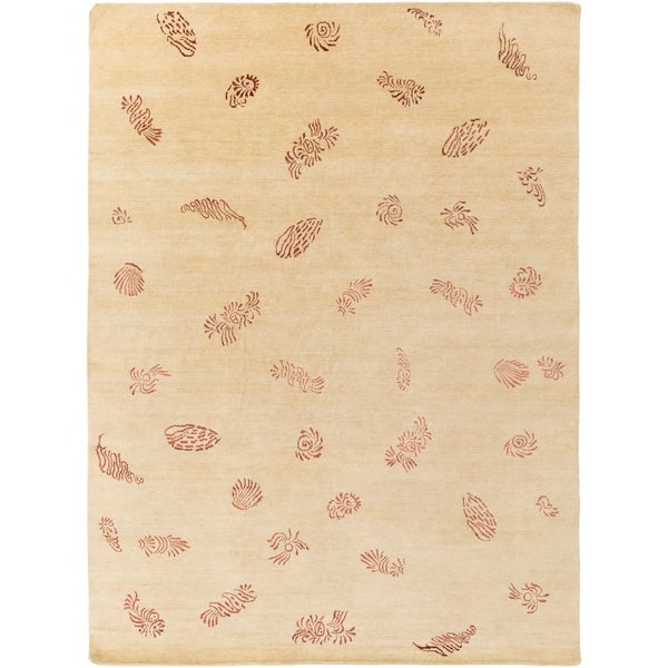 Hand-knotted Mantis Wool Area Rug - 8' x 11'