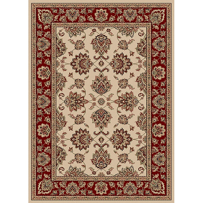 "Admire Home Living Virginia Ivory Traditional Area Rug (7'9"" x 11') - 7'9"" x 11'"