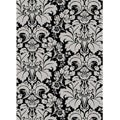 Admire Home Living Brilliance Damask Olefin Area Rug (5'5 x 7'7)