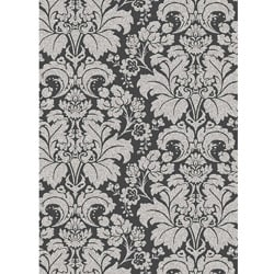 Thumbnail 1, Admire Home Living Traditional Brilliance Damask Area Rug (5'5 x 7'7).