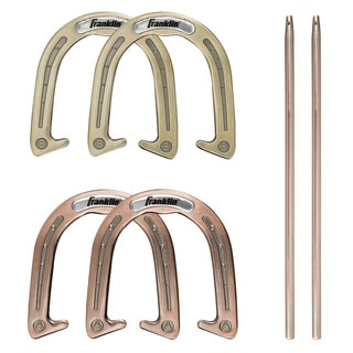 Franklin Sports Forged Carbon-steel Expert Pitching Horseshoe Set