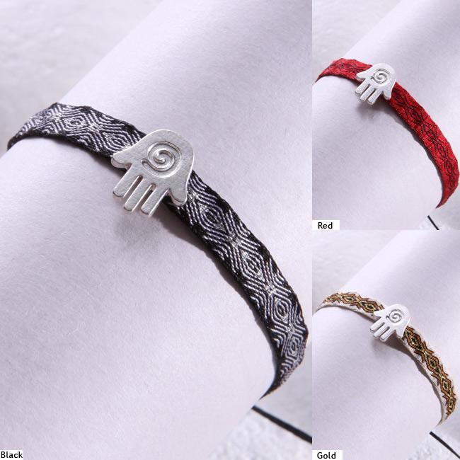 Mishky Sterling Silver Hamsa Hand Bracelet (Colombia)
