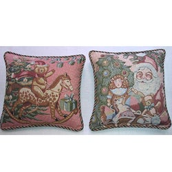 Corona Decor Belgium-woven Holiday Decorative Pillows (Set of 2)