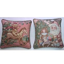 Corona Decor Belgium-woven Holiday Decorative Pillows (Set of 2)