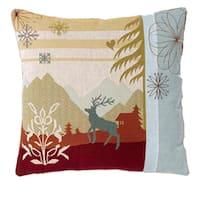Corona Decor Modern French Jacquard-Woven Square Decorative Pillow