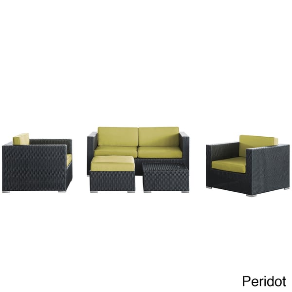 Pleasing Shop Malibu Collection 5 Piece Wicker Rattan Outdoor Cjindustries Chair Design For Home Cjindustriesco