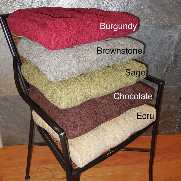 Elegance Chenille Non Slip Chair Pads (Set Of 4)