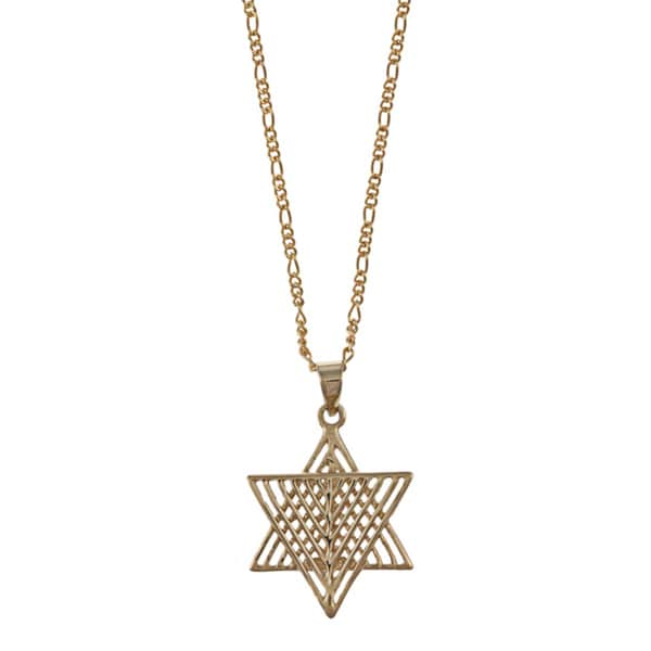 14k gold star of david necklace free shipping today for Star of david necklace mens jewelry
