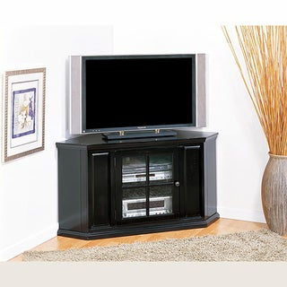 Rubbed Black 46-inch Corner TV Stand & Media Console