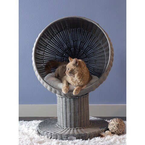 The Refined Feline Kitty Ball Espresso Brown Cat Bed