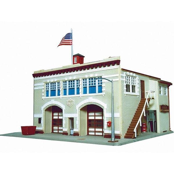 Walther Lifelike HO Scale Hampden Fire Engine House Building Kit