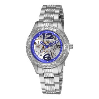 Stuhrling Original Lady Executive Women's Automatic Skeleton Watch with Stainless Steel Bracelet