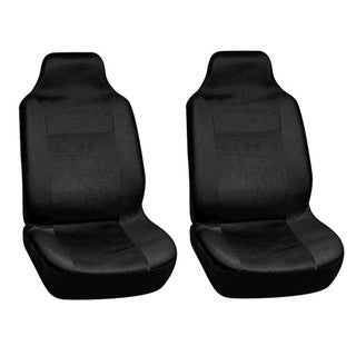 Integrated Solid Black Bucket Seat Covers (Set of 2)