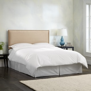 Skyline Furniture Burling Nail Button Full Headboard in Micro-Suede Oatmeal