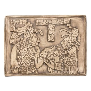 Link to Handmade Ceramic 'Maya Ruler and Wife' Wall Plaque (Mexico) Similar Items in Wall Sculptures