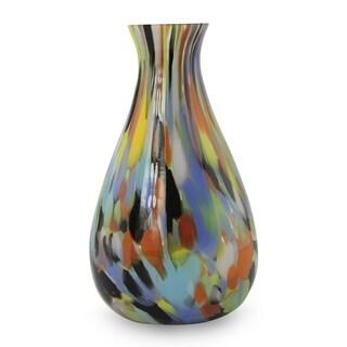 Rio Carnival All Occasion Gift Handmade Glass Bright Multi Color Mid Century Modern (Brazil)