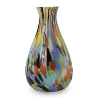Handmade Rio Carnival All Occasion Gift Glass Bright Multi Color Mid Century Modern (Brazil)