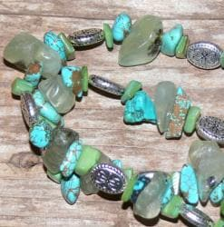 Susen Foster Silverplated Caribbean Vacation Gemstone Necklace - Thumbnail 1