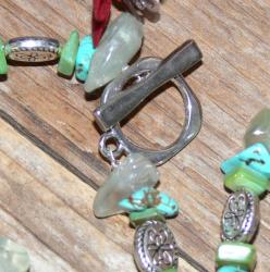 Susen Foster Silverplated Caribbean Vacation Gemstone Necklace - Thumbnail 2