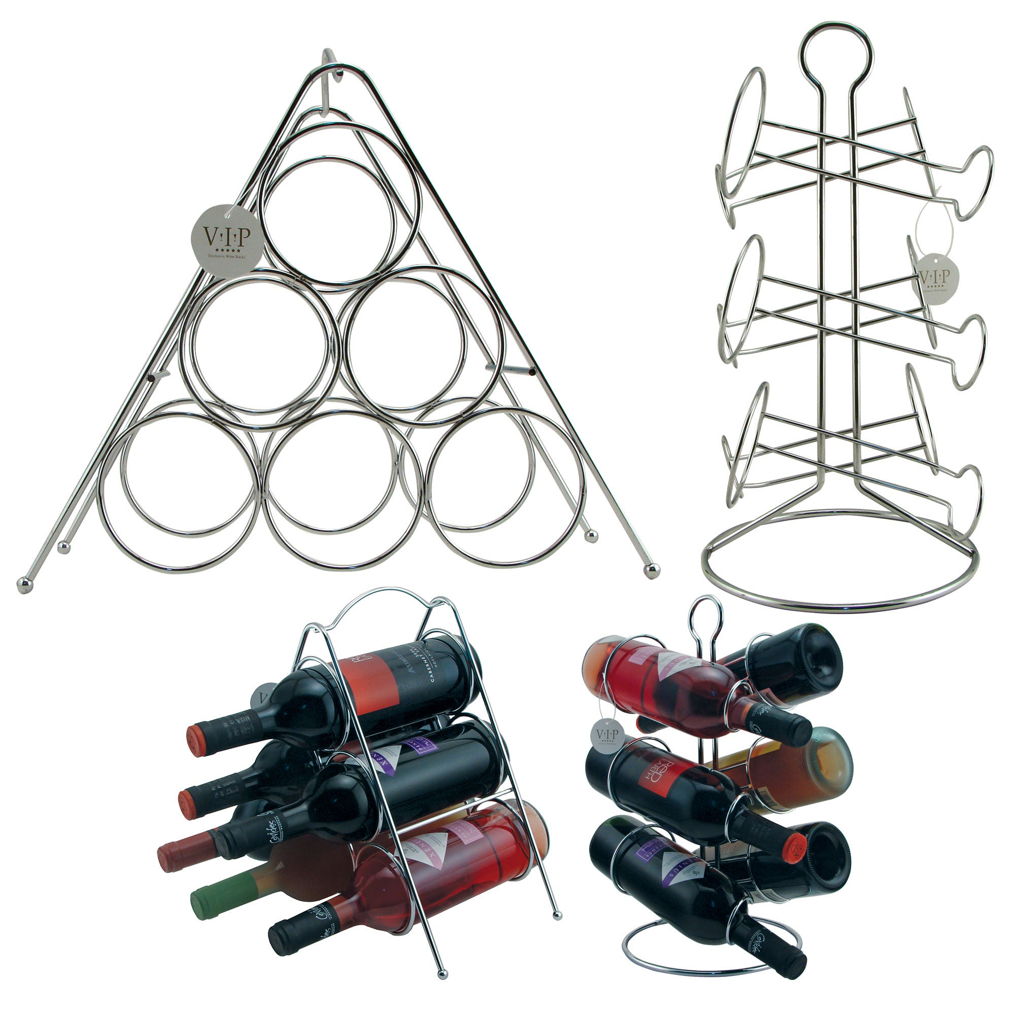 tabletop and shelfstyle metal wine racks set of two - Metal Wine Rack