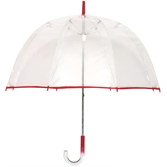 Tina T 48-inch Clear/Red Bubble Umbrella