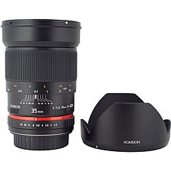 Rokinon 35mm f/1.4 Wide Angle Lens for Nikon Cameras