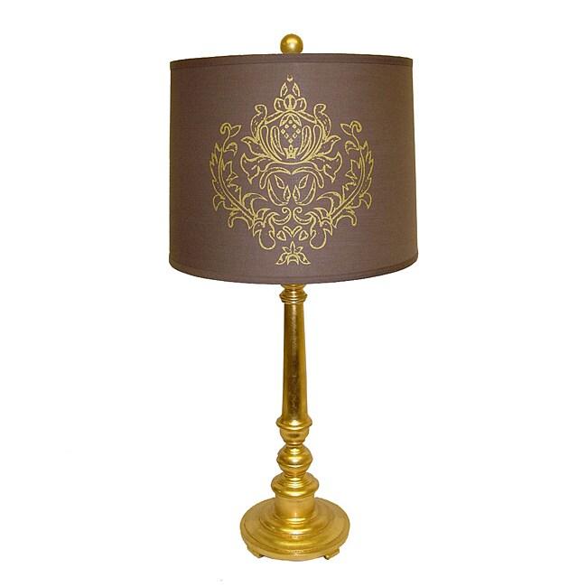 Gold Resin Indian Emblem Lamp
