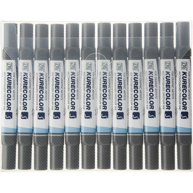 Zig Kurecolor Deep Colors Twin-tip Markers (Pack of 12)