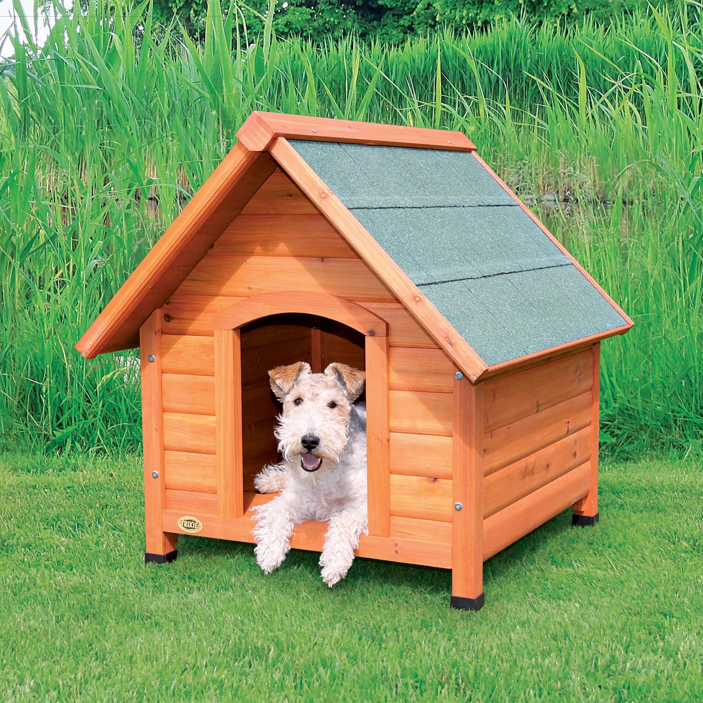 Trixie Small Log Cabin Dog House (Log Cabin - Small), Brown