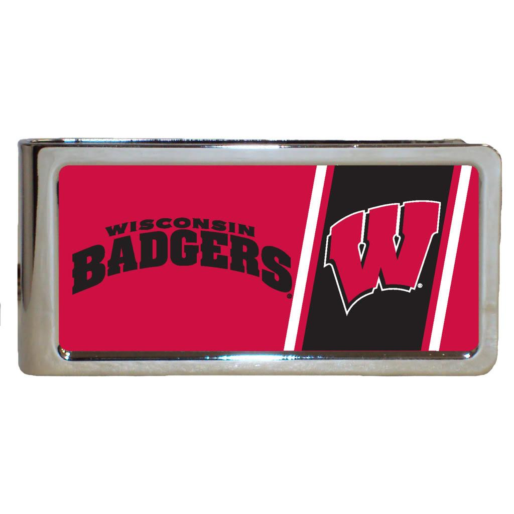 Wisconsin Badgers Stainless Steel Money Clip