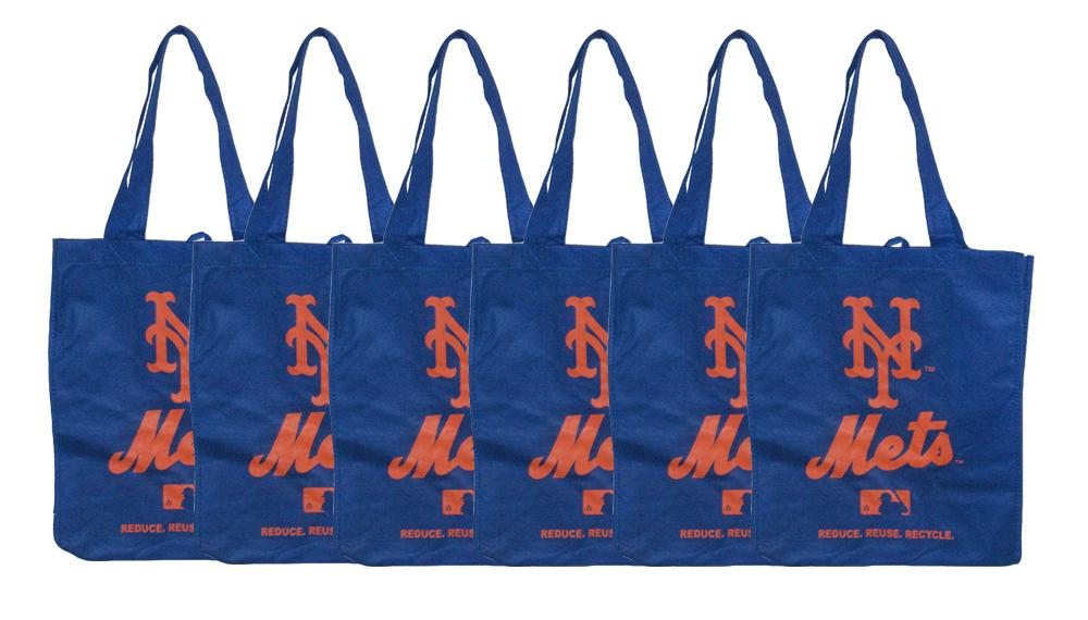 New York Mets Reusable Bags (Pack of 6)