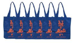 New York Mets Reusable Bags (Pack of 6) - Thumbnail 0
