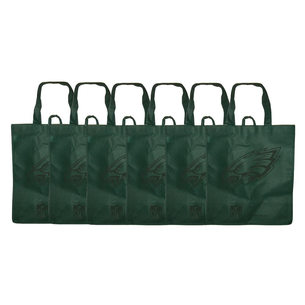 2f940b9acb1 Shop Philadelphia Eagles Reusable Bags (Pack of 6) - Free Shipping ...
