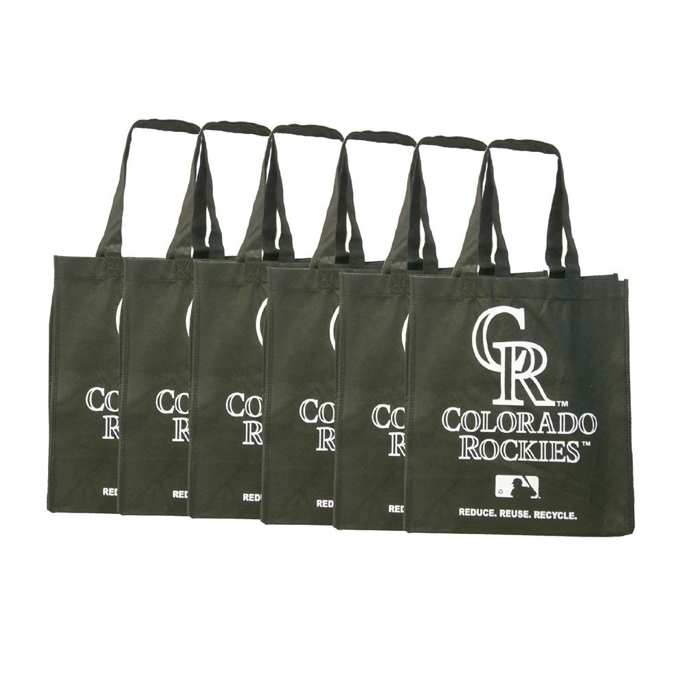 Colorado Rockies Reusable Bags (Pack of 6)