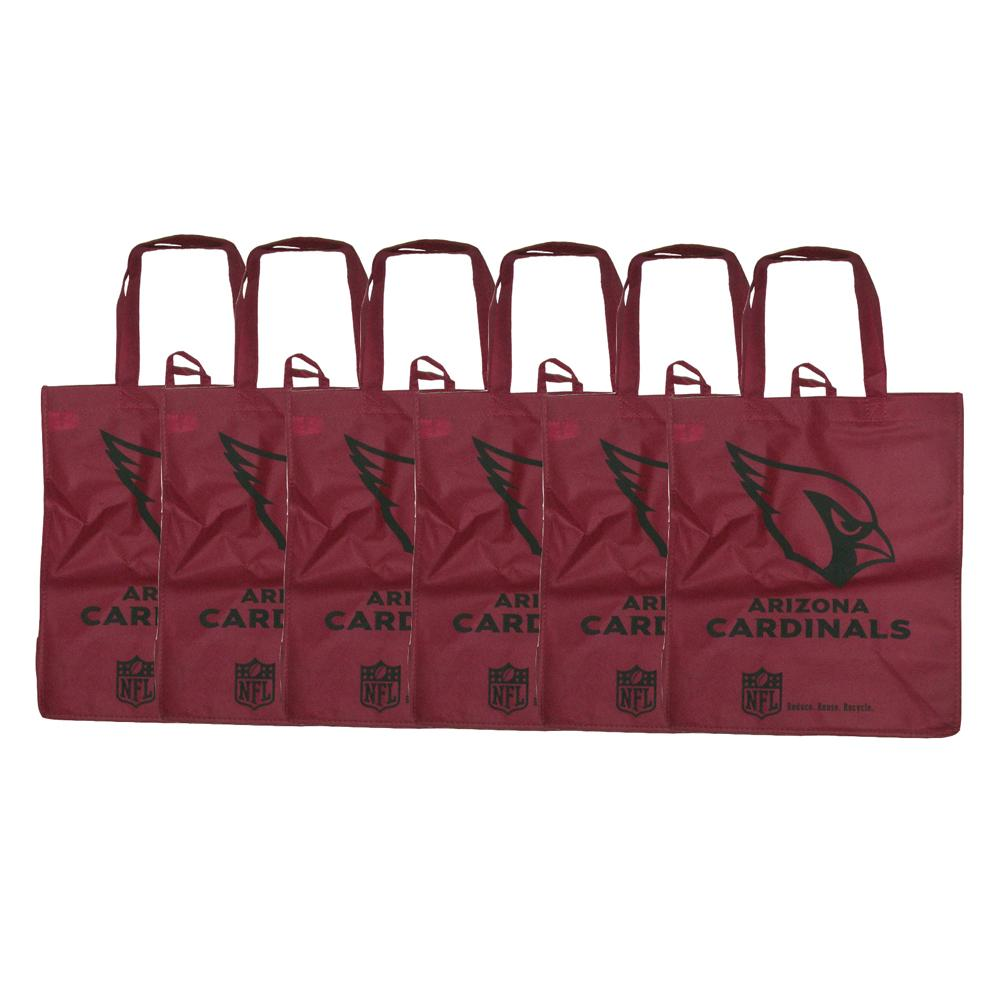 Forever Collectibles NFL Arizona Cardinals Reusable Bags (Pack of 6)