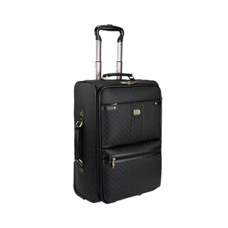 Rioni Signature Black 21-inch Carry-on Upright Suitcase