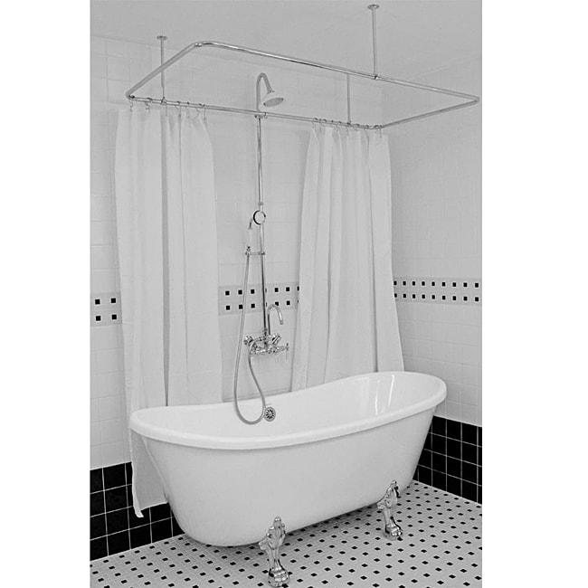 Spa Collection 67-inch Bateau Clawfoot Tub and Shower Pack
