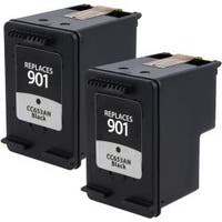 Insten Black Remanufactured Ink Cartridge Replacement for HP CC653AN/ 901