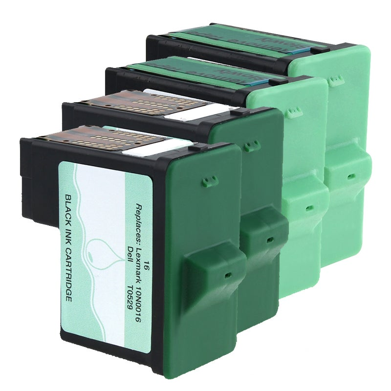 Insten 4-piece Black/ Color Ink for Lexmark/ Dell