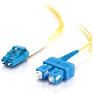 C2G-10m LC-SC 9/125 OS1 Duplex Singlemode Fiber Optic Cable (TAA Comp