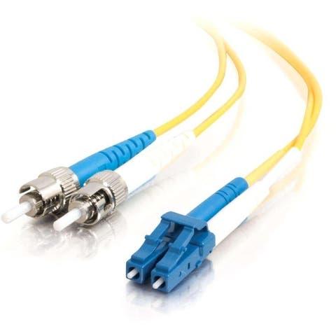 C2G-10m LC-ST 9/125 OS1 Duplex Singlemode Fiber Optic Cable (TAA Compliant) - Yellow