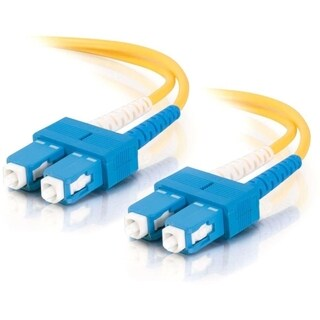 C2G-10m SC-SC 9/125 OS1 Duplex Singlemode Fiber Optic Cable (TAA Comp