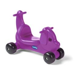 CarePlay Purple Puppy Ride-on Toy - Thumbnail 0