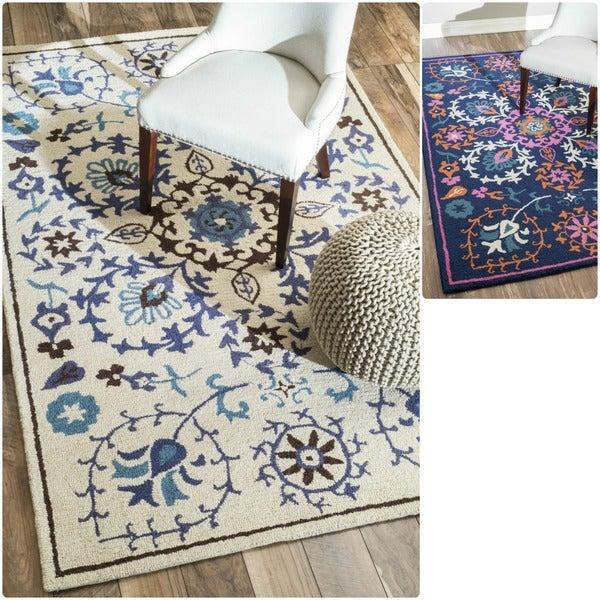 nuLOOM Hand-tufted Marrakesh Suzani Wool Rug (7'6 x 9'6)
