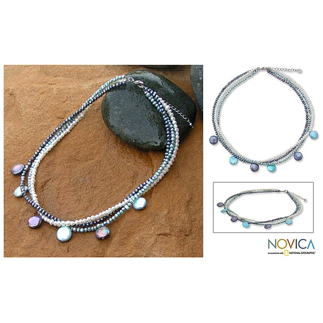 Pearl 'Sixth Blue Moon' Necklace (3-11.5 mm) (Thailand)