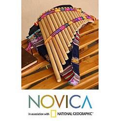 Handcrafted Bamboo 'Andean Zampona' Panpipe (Peru)