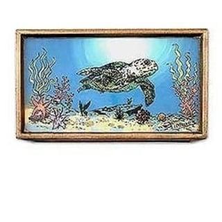 Handcrafted Reverse Painted Glass 'Sea Life' Jewelry Box (Peru)