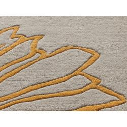 nuLOOM Handmade Floral New Zealand Wool Rug (7'6 x 9'6) - Thumbnail 2