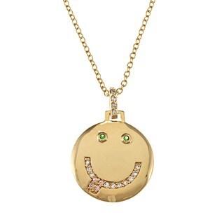 NEXTE Jewelry Goldtone Cubic Zirconia Smiley Necklace