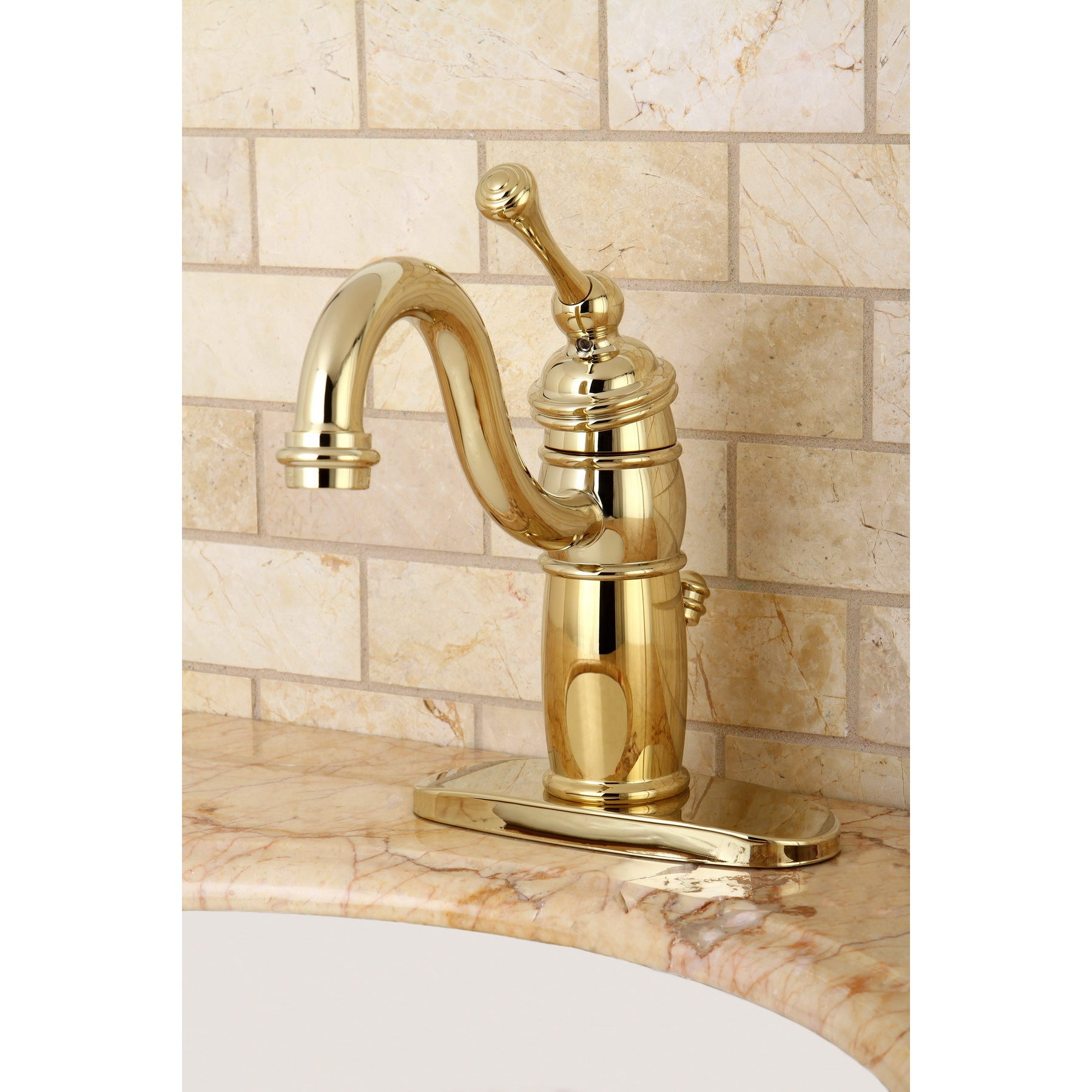 Image of: Shop Victorian Centerset Polished Brass Bathroom Faucet Brown Overstock 6143477